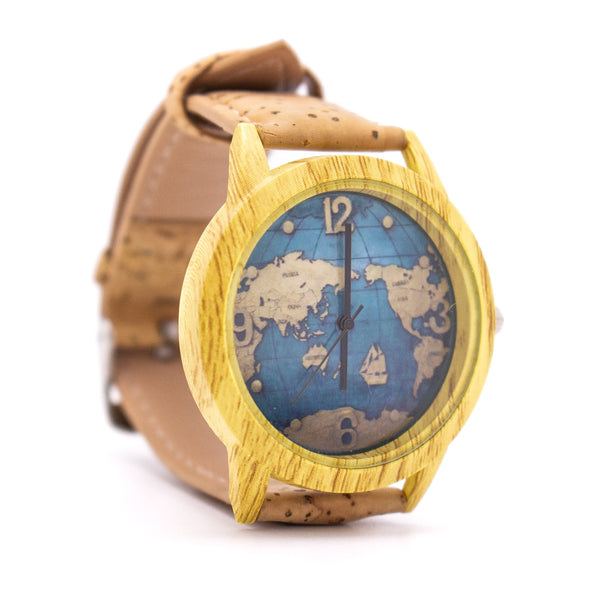 Cork watch three color watch cork strap women and men watch  WA-119