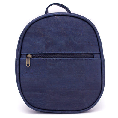 Navy blue and wine red cork mini backpack BAGP-011