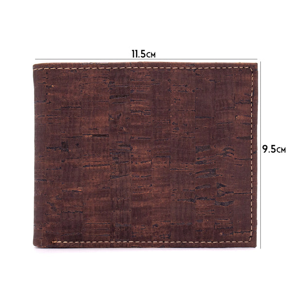 Natural Bifold Cork Wallet | Vegan Cork Fabric Wallet BAG-2003