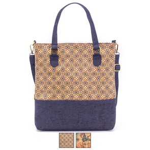 Blue cork women handbag with parrten Tote bag BAG-628