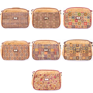 Flash Sales Natural Cork with PU crossbody 28x19cm BAGD-110
