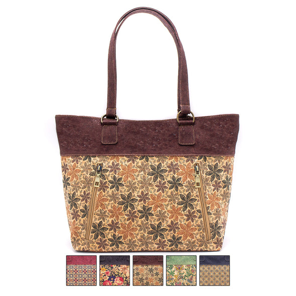 Winter collection Cork with Color Charcoal style zipper women handbag BAGP-029