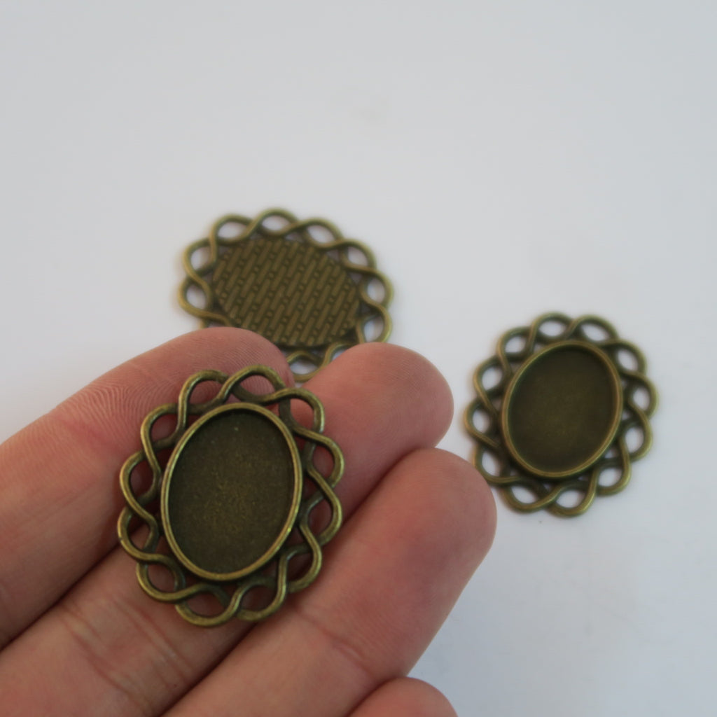 10 Pcs Antique BRASS jewelry supplies jewelry finding D-3-192