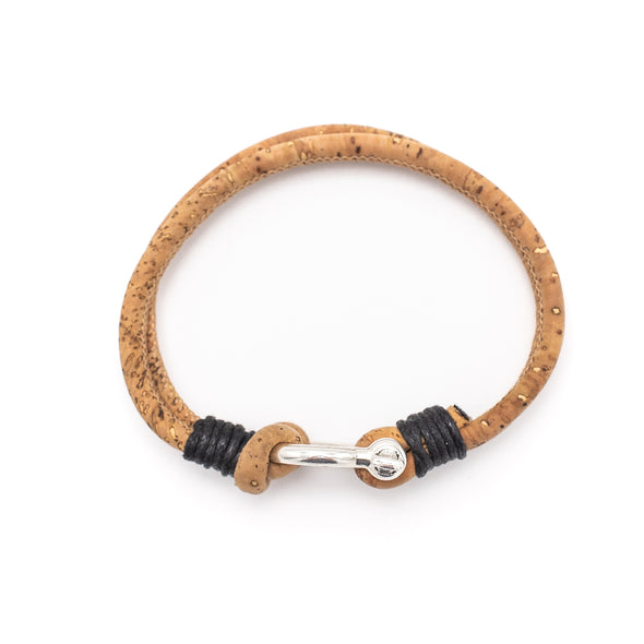 Natural Cork men handmade Horseshoe bracelet  BR-22