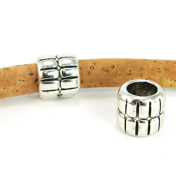 10Pcs for 8mm round leather, antique silver big beads, jewelry supplies jewelry finding D-5-5-43