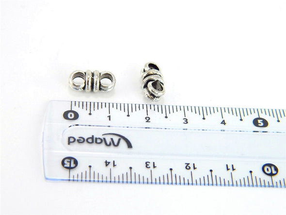 40 Pcs for 3mm round leather Antique Silver 2 stand jewelry supplies jewelry finding D-5-3-14