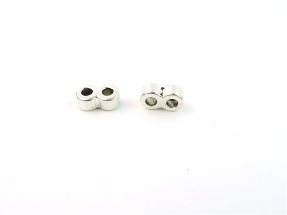 40pcs For 3MM round cord 2 Strand separator connectors Jewelry Findings & Components D-5-3-26