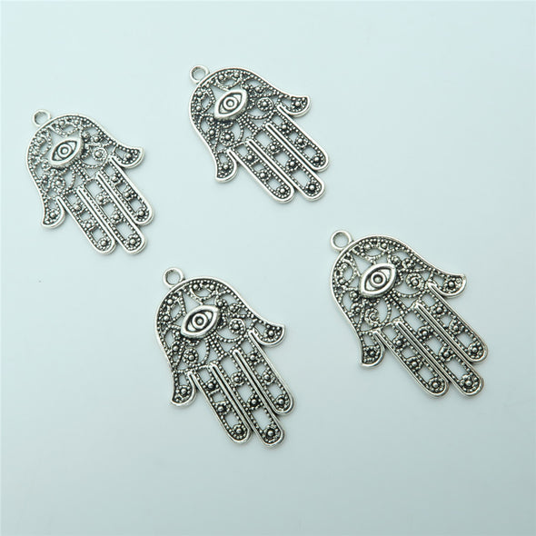 10PCS Fatima hand Pendants for necklace or key chain, antique silver, Jewelry Findings & Components D-3-64