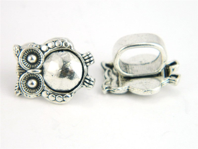 10pcs owl licorice Slider, Antique Silver, bracelet Components, Jewelry supply Findings D-2-13