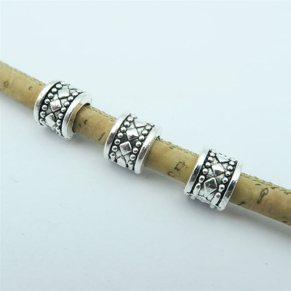 20PCS For 5mm leather antique silver zamak beads, Jewelry supply Findings Components D-5-5-63