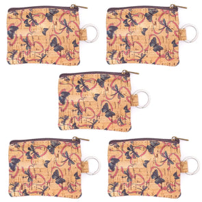 Printed mini cork purse with key ring BAG-2045-H (5 units)