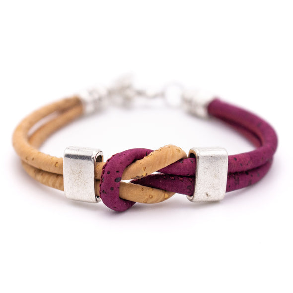 Colorful Cork handmade unisex bracelet original wooden jewelry From PORTUGAL BR-232-MIX-6