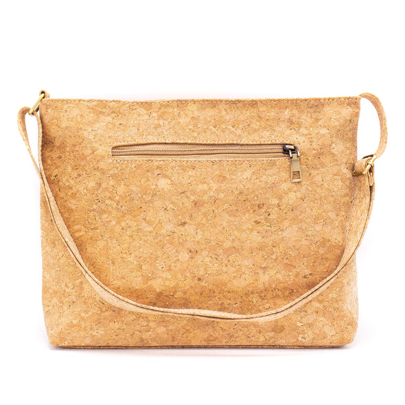 Natural Cork Shoulder Bag | Made with Cork Fabric Bag-2010