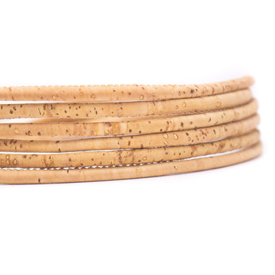 Natural 3mm round cork cord   COR-169(10 meters)