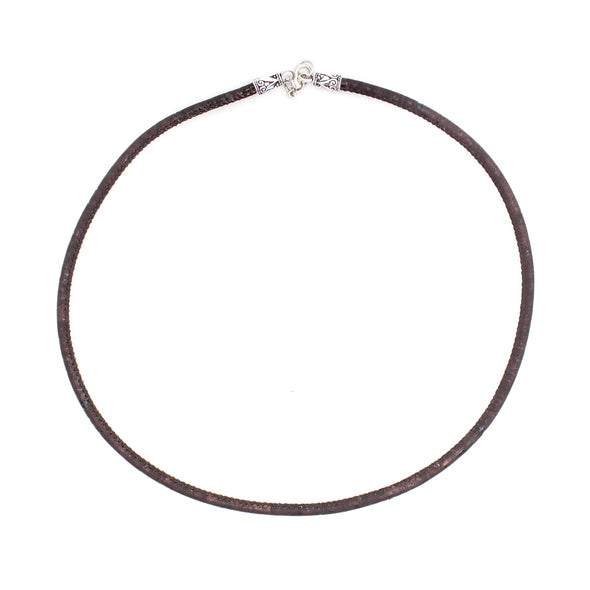 3MM brown Cork necklace cord cord 45cm length  N-001-B-10