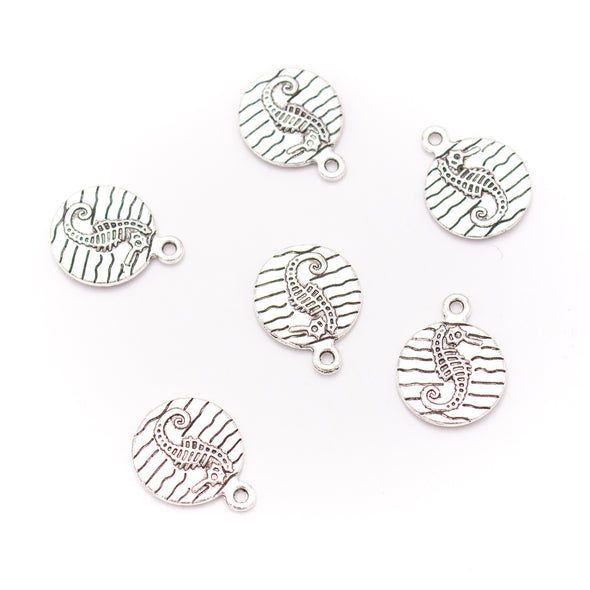 20 units 15x19mm round silver Hippocampus Necklace  jewelry pendant Jewelry Findings  D-3-473