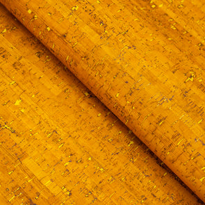 Yellow cork fabric eco cork textile sheet Portuguese  COF-336