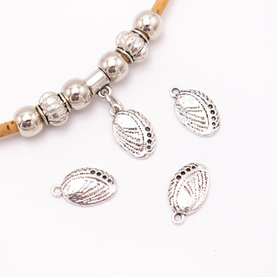 30 units 9x16mm round silver shell Necklace  jewelry pendant Jewelry Findings D-3-477
