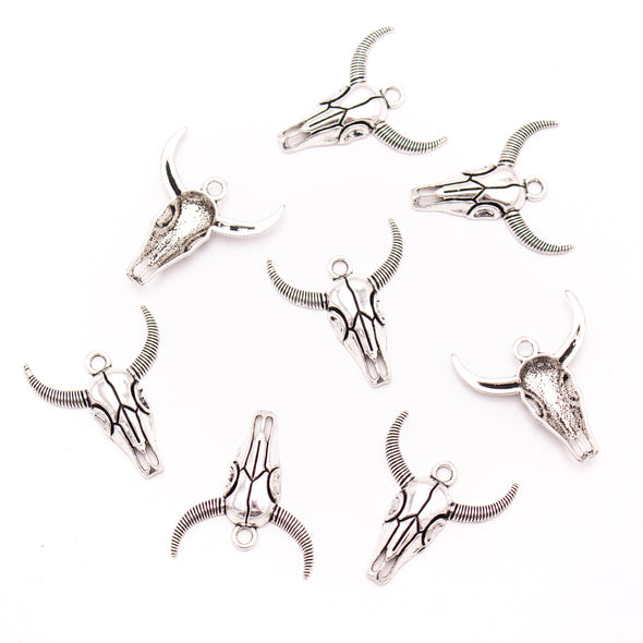 10 units 27x30mm silver Bull head Necklace  jewelry pendant Jewelry Findings D-3-485
