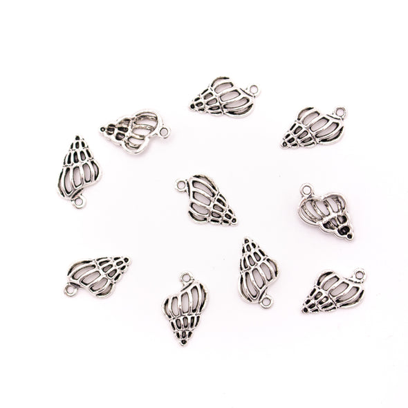 30 units 10x19mm silver conch Necklace  jewelry pendant Jewelry Findings D-3-490