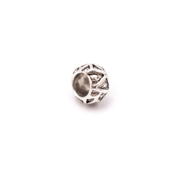 30PCS For 5mm leather antique silver zamak 5mm round beads Jewelry supply Findings Components- D-5-5-185
