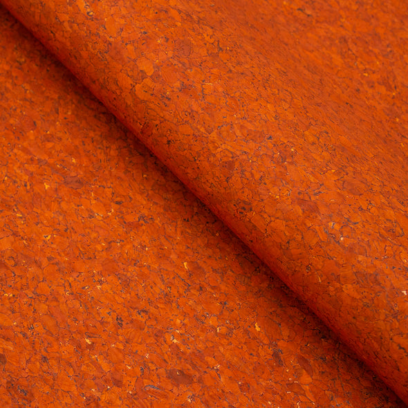Orange cork textile sheet Portuguese cork fabric Agglomerate black COF-359