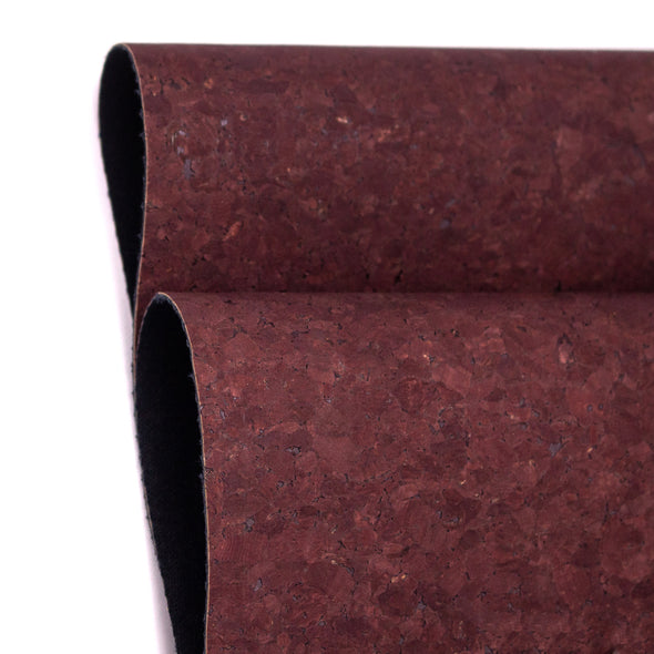 Mocha Brown Portuguese cork fabric Agglomerate black COF-360