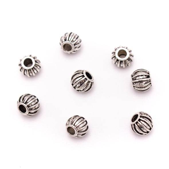 20Pcs for 3mm round silver  beads findings for bracelet handmade finding jewelry supplies jewelry finding D-5-3-137