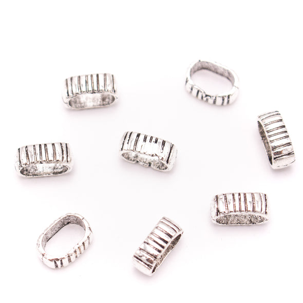 20Pcs For 10mm*6mm flat leather,Antique sliver bracelet accessories jewelry supplies jewelry finding D-1-10-265