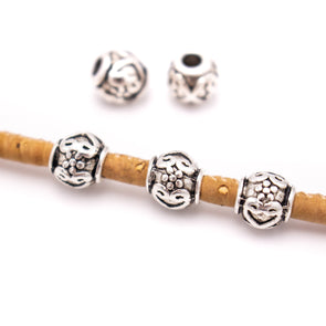 30 Pcs for3mm round leather Antique Silver round beads jewelry supplies jewelry finding D-5-3-138