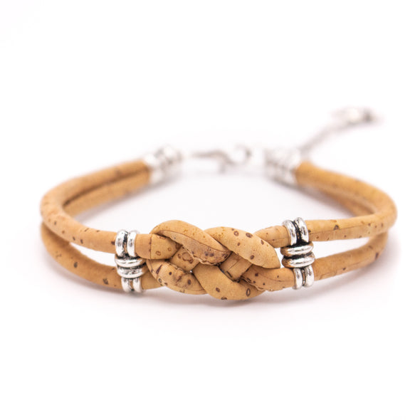 Natural cork  handmade women Bracelet lady handmade wood jewelry BR-491-MIX-6