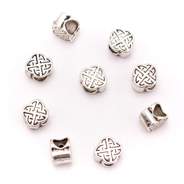 20PCS For 5mm leather antique silver zamakb 5mm round  beads Jewelry supply Findings Components- D-5-5-192