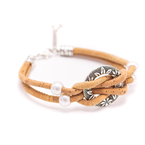 Natural cork  handmade women Bracelet lady handmade wood jewelry BR-485-MIX-5