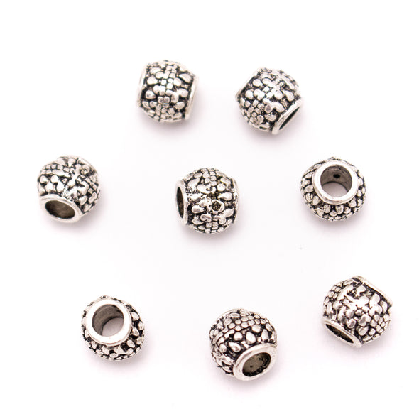 20PCS For 5mm leather antique silver zamak 5mm round  beads Jewelry supply Findings Components- D-5-5-196