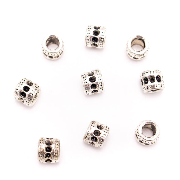 10PCS For 5mm leather antique silver zamak 5mm round  beads Jewelry supply Findings Components- D-5-5-197