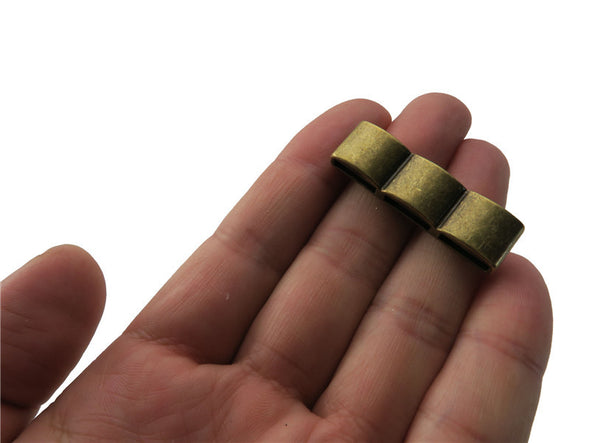 10pcs For 10mm flat leather  Antique Brass smooth slider jewelry supplies jewelry finding D-1-10-97