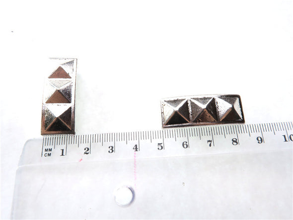 10pcs For 10mm flat leather antique silver long slider, jewelry supplies jewelry finding D-1-10-96