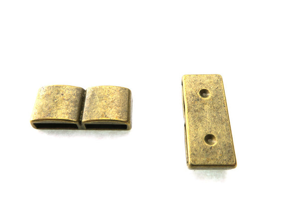 10pcs For 10mm flat leather  Antique Brass smooth straight slider jewelry supplies jewelry finding D-1-10-99