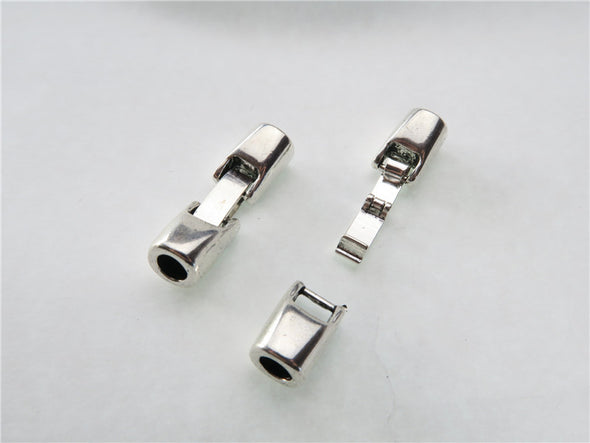 10Pcs for 5mm round leather snap clasp, antique silver jewelry supplies jewelry finding D-6-32