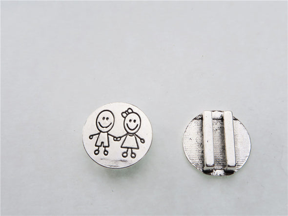 10pcs For 10mm flat leather,  antique silver round boy and girl jewelry supplies jewelry finding D-1-10-93