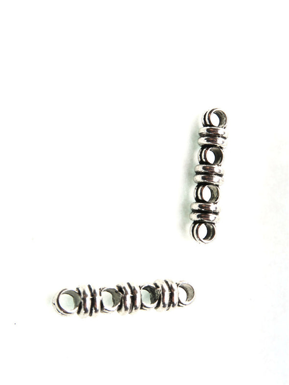 10 Pcs for 3mm round leather Antique Silver 4 stand jewelry supplies jewelry finding D-5-3-12