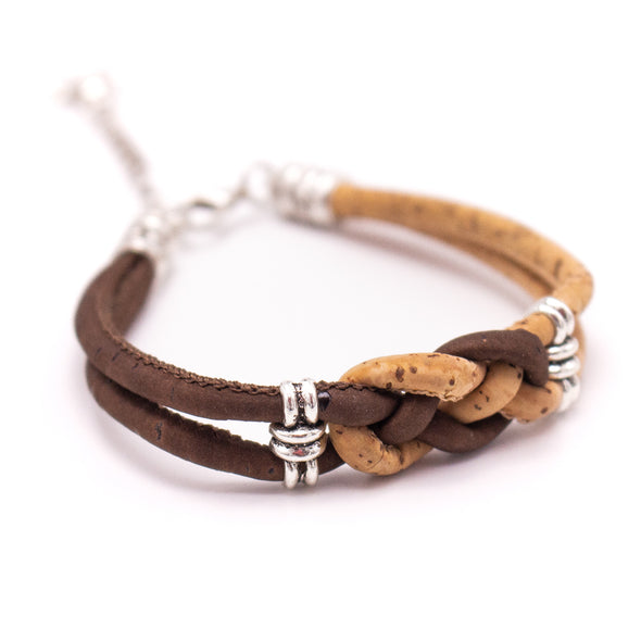 Natural cork  handmade women Bracelet lady handmade wood jewelry BR-494-MIX-6