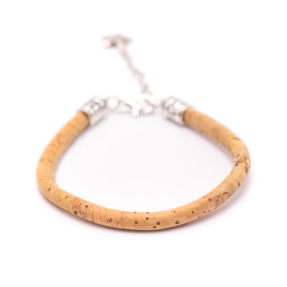 5MM round colorful  cork cord Handmade bracelet BR-01-MIX-12