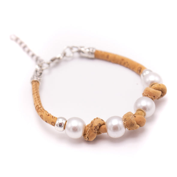 Natural cork  handmade women Bracelet lady handmade wood jewelry BR-496-MIX-10