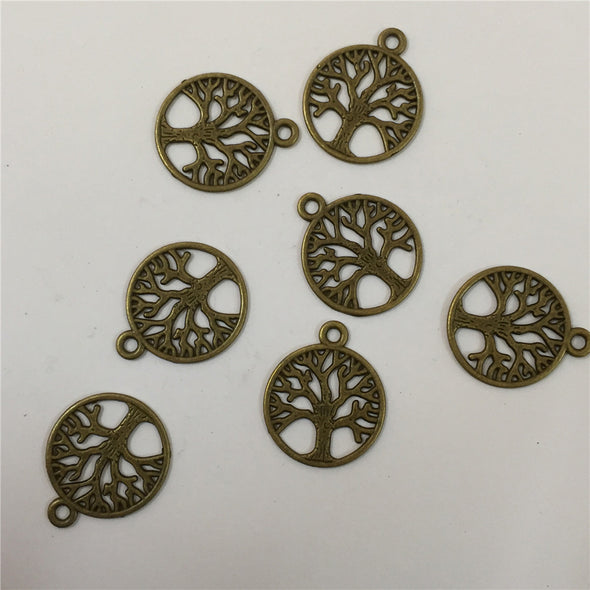 20 units antique brass life of tree pendant charms jewelry finding suppliers D-3-136