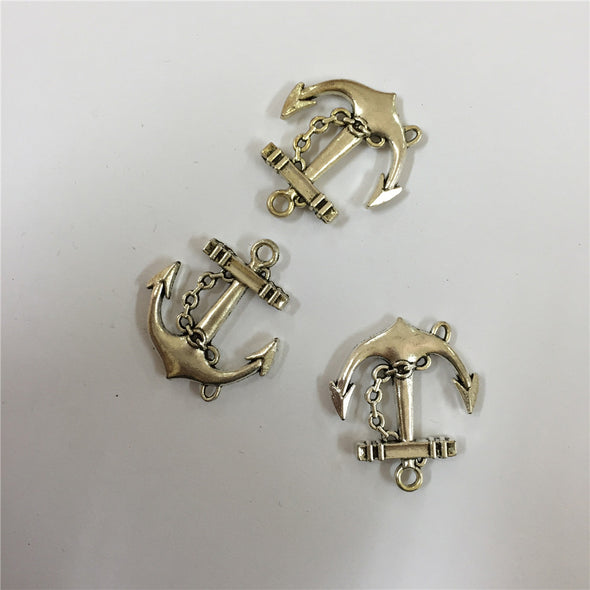 10 units antique sliver anchor pendant charms jewelry finding suppliers D-3-108