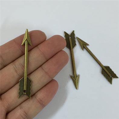 10 units antique brass arrow pendant charms jewelry finding suppliers D-3-132