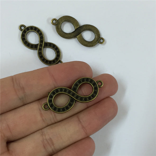 10 units antique brass infinite pendant charms jewelry finding suppliers D-3-134