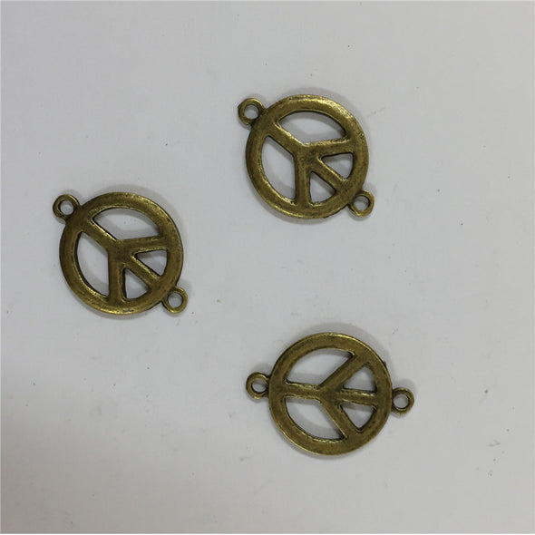 20 Pcs Antique brass Peace symbol Supplies jewelry finding D-3-160
