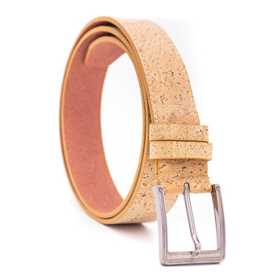 Men's natural Eco cork belt L-061-B